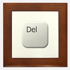 White Keyboard Delete Key Framed Tile