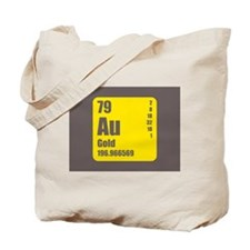 Periodic Table Of Element's Au GOLD Tote Bag