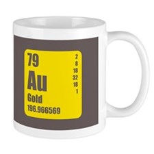 Periodic Table Of Element's Au GOLD Mug