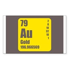 Periodic Table Of Element's Au GOLD Decal