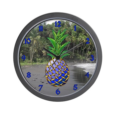 Blue Hawaiian Wall Clock