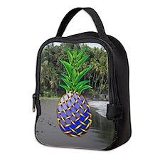 Blue Hawaiian Neoprene Lunch Bag