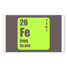 Periodic Table Of Element's Fe Iron Decal