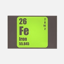 Periodic Table Of Element's Fe Iron Rectangle Magn