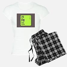 Periodic Table Of Element's Fe Iron Pajamas