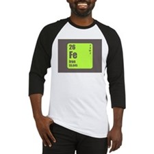 Periodic Table Of Element's Fe Iron Baseball Jerse