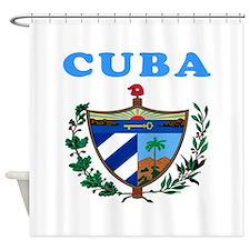 Cuba Coat Of Arms Designs Shower Curtain
