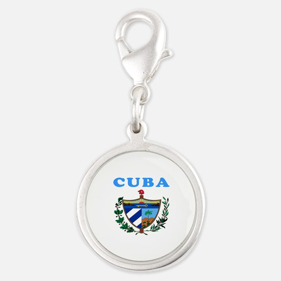 Cuba Coat Of Arms Designs Silver Round Charm