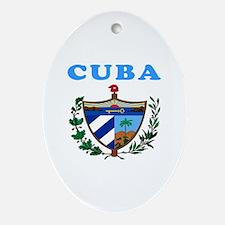 Cuba Coat Of Arms Designs Ornament (Oval)