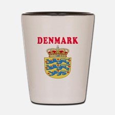Denmark Coat Of Arms Designs Shot Glass