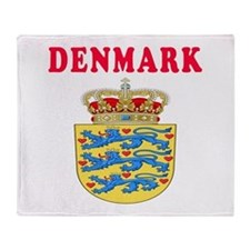 Denmark Coat Of Arms Designs Throw Blanket