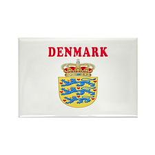 Denmark Coat Of Arms Designs Rectangle Magnet
