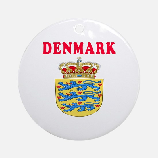 Denmark Coat Of Arms Designs Ornament (Round)