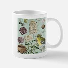 Vintage French bird and nest Mug