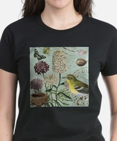 Vintage French bird and nest T-Shirt