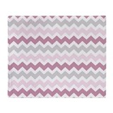Pink and grey Fleece Blankets