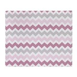 Pink and grey Fleece Blankets