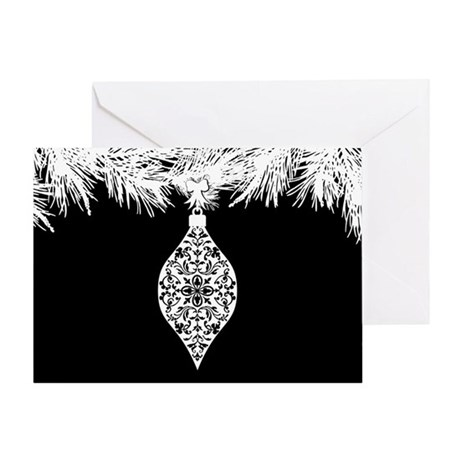 Gothic Pattern Christmas Ornament Greeting Card