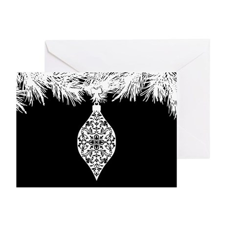 Gothic Pattern Christmas Ornament Greeting Cards (