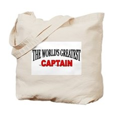 """The World's Greatest Captain"" Tote Bag"