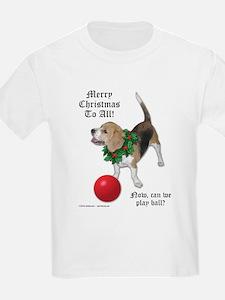 Christmas Beagle Kids T-Shirt