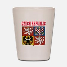 Czech Republic Coat Of Arms Designs Shot Glass