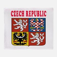 Czech Republic Coat Of Arms Designs Throw Blanket