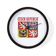 Czech Republic Coat Of Arms Designs Wall Clock