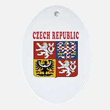 Czech Republic Coat Of Arms Designs Ornament (Oval