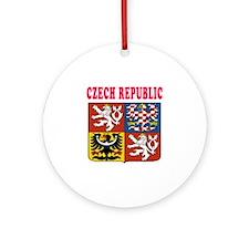 Czech Republic Coat Of Arms Designs Ornament (Roun