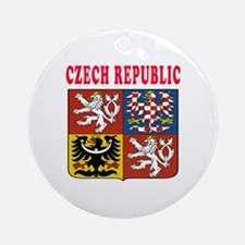 Czech Republic Coat Of Arms Designs Ornament (Roun