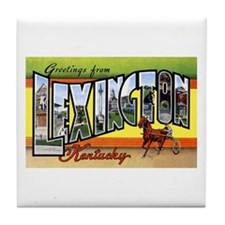Lexington Kentucky Greetings Tile Coaster