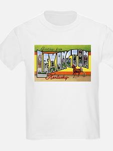 Lexington Kentucky Greetings (Front) Kids T-Shirt