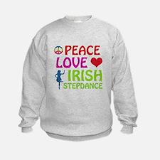 Peace Love Irish Stepdance Sweatshirt