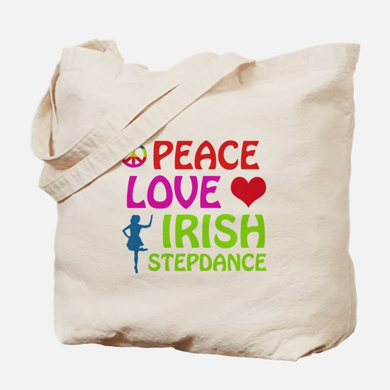 Peace Love Irish Stepdance Tote Bag