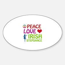 Peace Love Irish Stepdance Decal