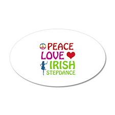 Peace Love Irish Stepdance Wall Decal