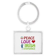Peace Love Irish Stepdance Landscape Keychain