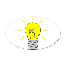 Light Bulb Idea Oval Car Magnet