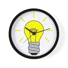 Light Bulb Idea Wall Clock