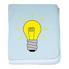 Light Bulb Idea baby blanket