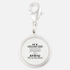 Dandie Dinmont Terrier not just a dog Silver Round