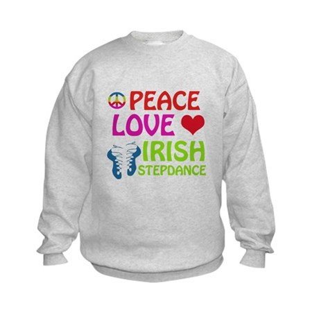 Peace Love Irish Stepdance Kids Sweatshirt