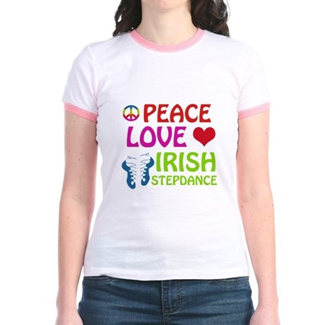 Peace Love Irish Stepdance Jr. Ringer T-Shirt