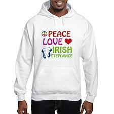 Peace Love Irish Stepdance Hoodie