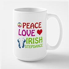 Peace Love Irish Stepdance Large Mug