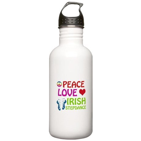 Peace Love Irish Stepdance Stainless Water Bottle