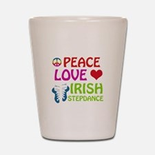 Peace Love Irish Stepdance Shot Glass