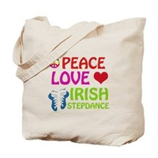 Peace Love Irish Stepdance Tote Bag