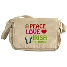 Peace Love Irish Stepdance Messenger Bag